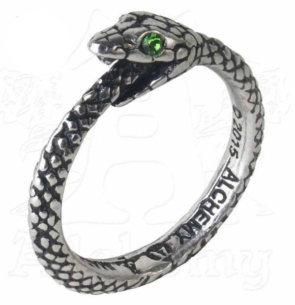 ALCHEMY GOTHIC Sophia Serpent Snake Pewter Ring